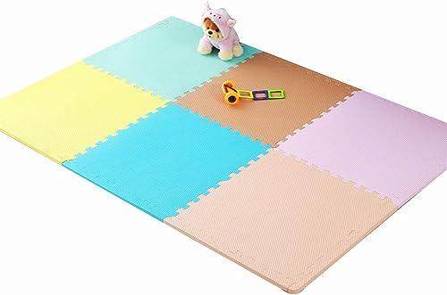 punto de venta barato HLMIN Alfombras Puzzle 6 Piezas Piezas Piezas De Enclavamiento Soft Kids Baby EVA Foam Activity Play Mat azulejos De Piso (Color   A, Talla   58×58×1.8CM(6PCS))  elige tu favorito