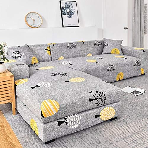 WXQY Funda de sofá elástica geométrica para Sala de Estar, Funda de sofá en Forma de L Necesita Pedir 2 Juegos, Funda de sofá Todo Incluido A13 2 plazas