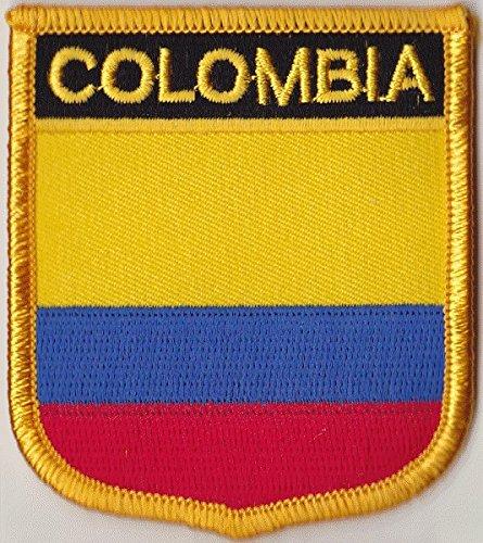 Flaggen Aufnäher Patch Kolumbien Fahne Flagge - 7 x 6 cm