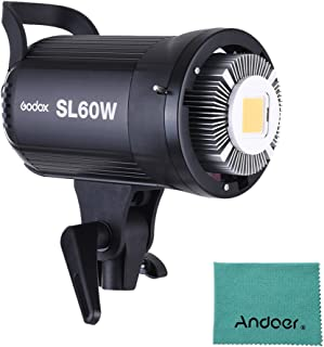 Godox sl-60W 5600K 60W alta potencia LED luz video inalámbrico mando a distancia con Bowens Mount para Video Foto Studi...