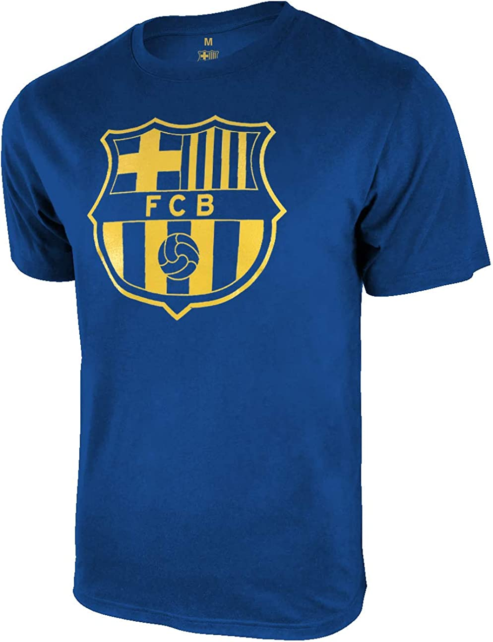 Icon Sports Men FC Barcelona Officially Licensed Soccer T-Shirt Cotton Tee 02