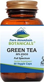 Sponsored Ad - Green Tea Capsules - 90 Kosher Vegan Caps with 450mg Organic Full Spectrum and Pure Green Tea Extract