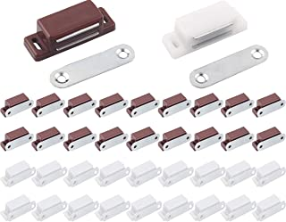 Liuer 40PCS Placard Loquet de Porte Magnétique Ultra-Mince Durable Puissant Kit Aimant Loquet pour Les Portes D'armoires L...
