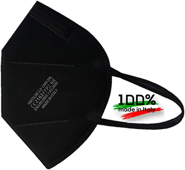karaeasy mascherina ffp2 filtri 95% mascherine ffp2 certificate ce 5 strati passanti orecchie - 10 pc pp03