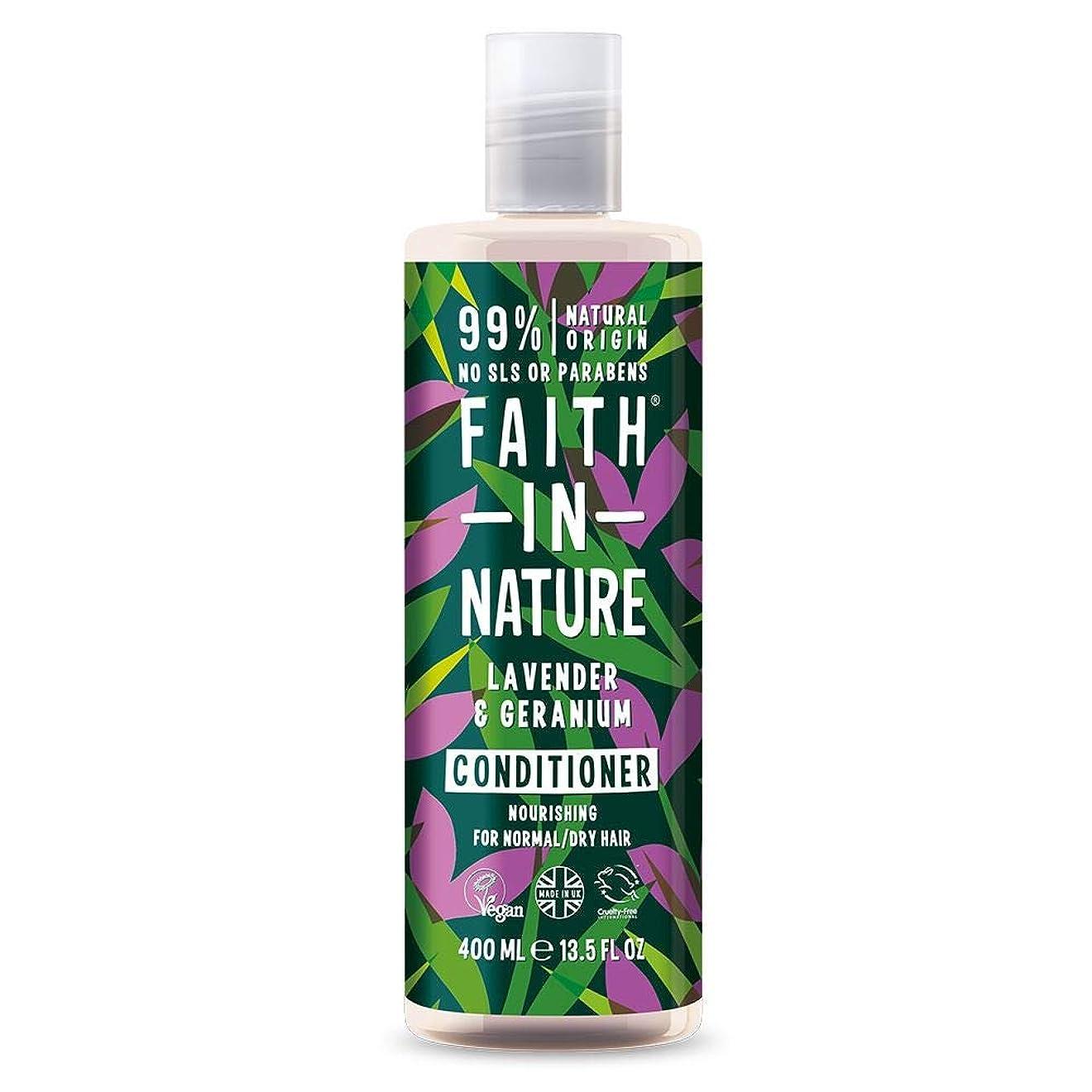 ツール侮辱シソーラスFaith In Nature Lavender & Geranium Conditioner Normal To Dry Hair 400ml