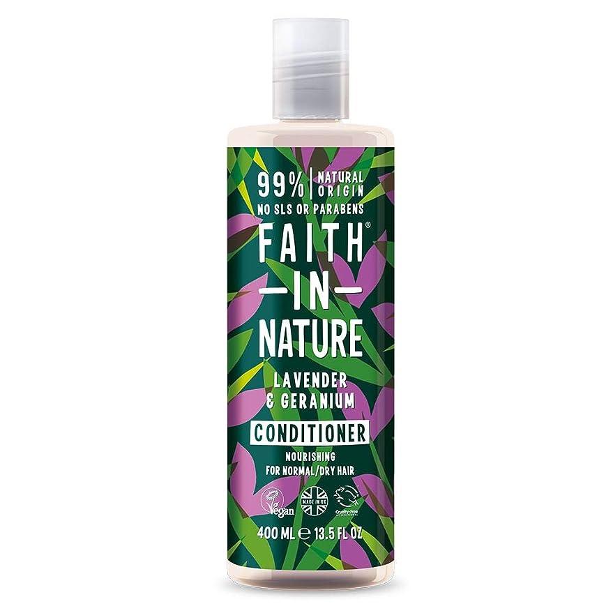 南東愛する下に向けますFaith In Nature Lavender & Geranium Conditioner Normal To Dry Hair 400ml