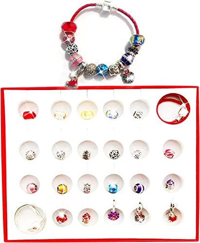 new arrival 2021 Glass Bead Crystal online sale Bracelet Advent Calendar Christmas 24 Days Countdown Advent Calendar with Jewelry Set for Kids/Childs 2021 Teen Girls online