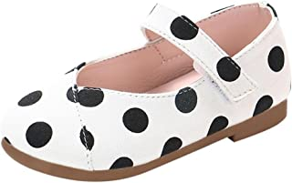LNGRY Shoes,Toddler Kids Baby Girls Princess Polka Dot Soft Sole Mary Jane Single Shoes