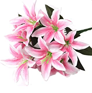 Best fake pink lilies Reviews