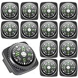 PROLOSO 40 Pcs Mini Compass Pack Portable Button Compass Wrist Compass for Watch Band Bracelet