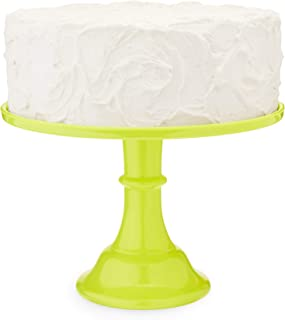 Green LE Smith Cake Stand 9 Inch Square Trellis Pattern Wedding Cake Stand Holiday