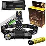Nitecore HC33 1800 Lumens CREE XHP35 LED dual-form headlamp, battery & charger bundled with EdisonBright battery carry case