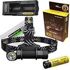 Max 1800 Lumen headlamp/detachable light Single button access to 5 brightness levels and 3 special modes Flood lighting system provides a wide, 100 degree angle Comfortable headband constructed from quality elastic nylon Bundle include 3500mAh rechar...