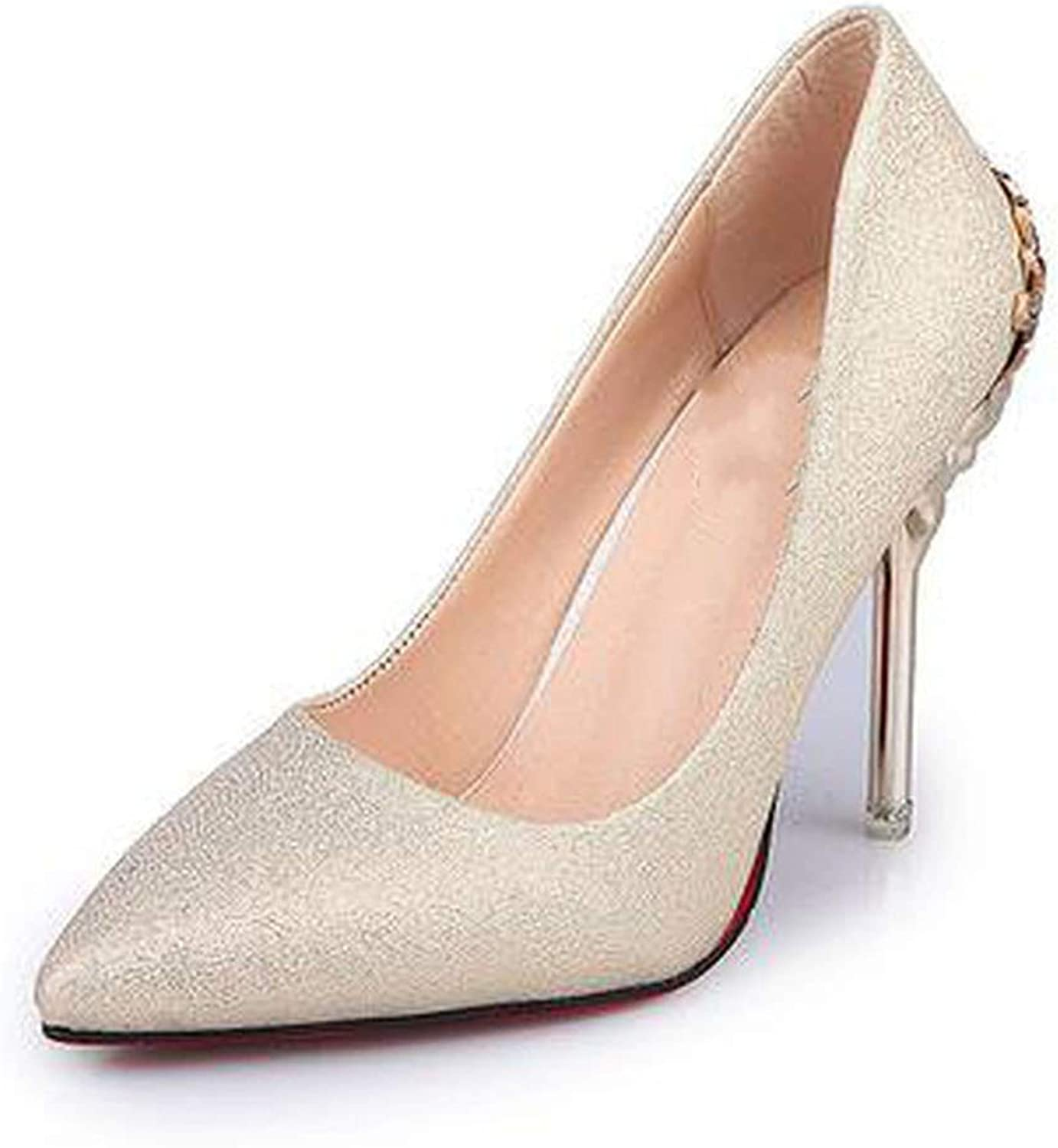 Fortune-god Sexy High Heels shoes Woman Pumps Red gold Silver Wedding Party shoes Fretwork