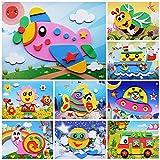 PMSMT 10 unids/Set niños DIY Animal de Dibujos Animados 3D EVA Espuma Pegatina Rompecabezas Hecho a Mano Juguetes educativos de Aprendizaje temprano para niños Regalo Artesanal