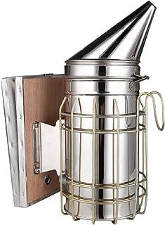 adesugata Bienenzucht Werkzeug, Edelstahl Bee Hive Smoker Bienenzucht Raucher