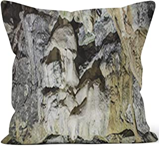 Nine City Interior of Cave in Carter Caves State Park in Kentucky Throw Pillow Cushion Cover,HD Printing Decorative Square Accent Pillow Case,28