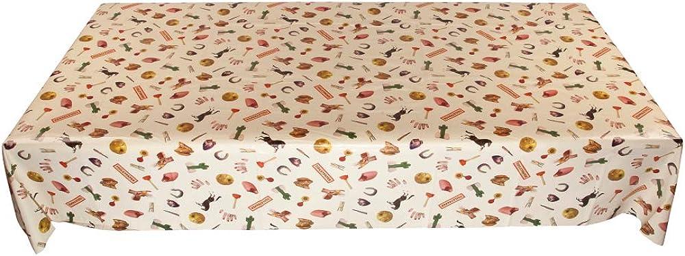 Seletti, tovaglia in vinile piu`cotone stampato toiletpaper, cm.140x240-mix 126201