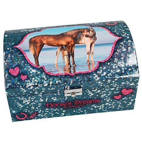 Unbekannt Horses Dreams 8933.001 Schmuckkästchen mit Geheimfach, blau, girls