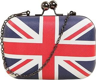 british flag clutch purse
