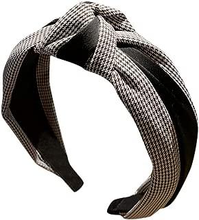 LOKODO Women's Striped Headbands Knotted Wide Hair Hoop Washing Hair Band Hair Accessories Headpiece