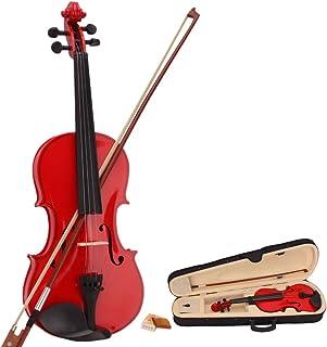 ویولن Acoustic Acoustic New Teekland New 4/4 & Case & Bow & Rosin for Violin Beginners (قرمز)