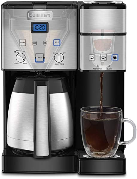 Cuisinart SS 20 Coffee Center 10 Cup Thermal Single Serve Brewer Coffeemaker Silver