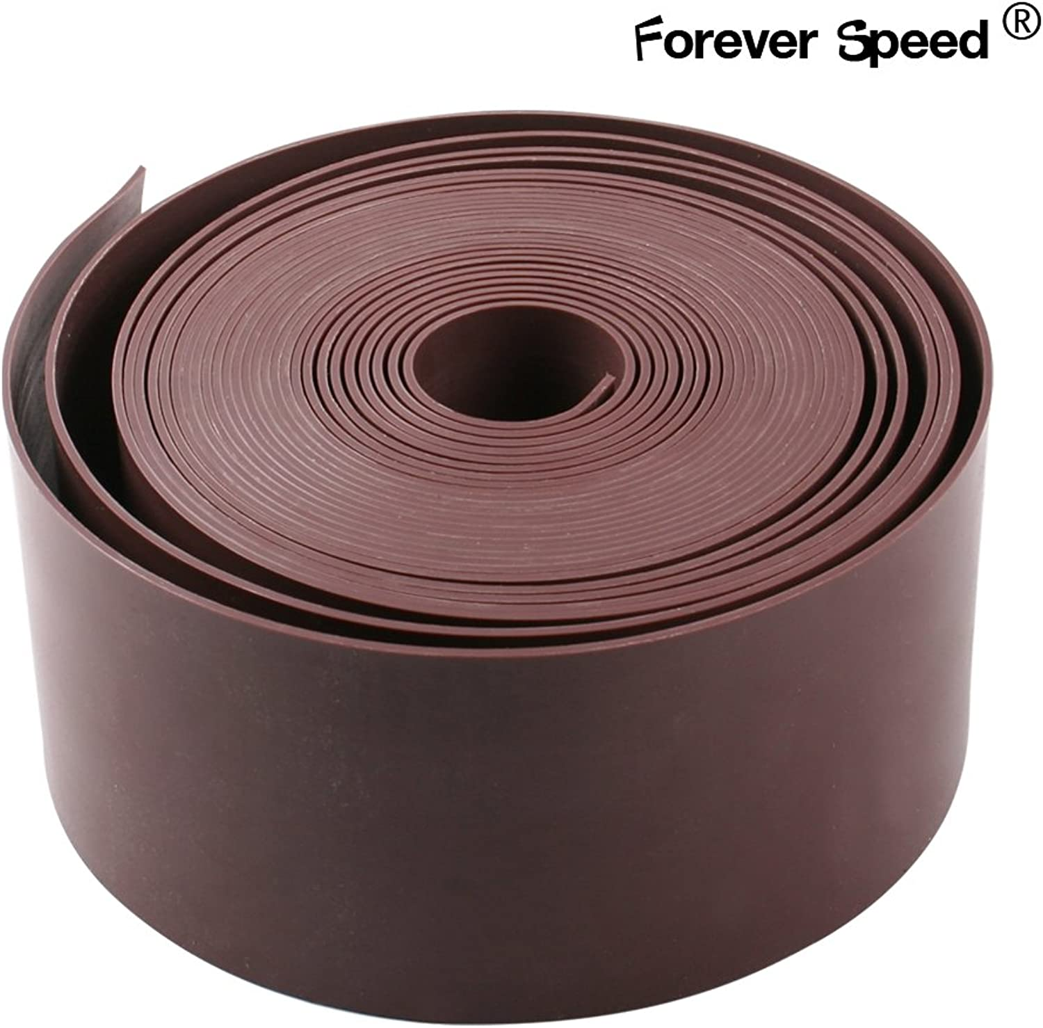 Forever Speed Garden Lawn Edge Fence PE 2mm Thick Brown 50mx10cm (LxH)
