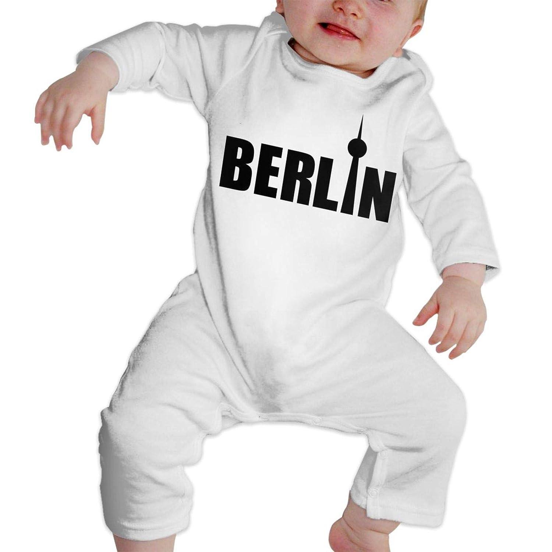 Berlin Sommer Langarm M/ädchen Jungen Baby Strampler Baumwolle Neugeborene S/äugling Body Anzug Baby Pyjama Junge Overall