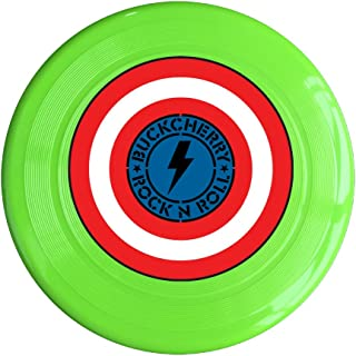 RCINC Flash Rock N Roll Logo Outdoor Game Frisbee Light Up Flying Yellow