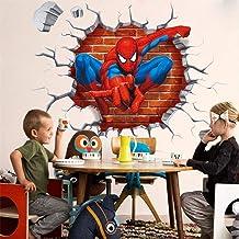Autocollant mural en carton avec motif Spiderman - Pour chambre d'enfants - Cadeau pour enfants - 45 x 50 cm