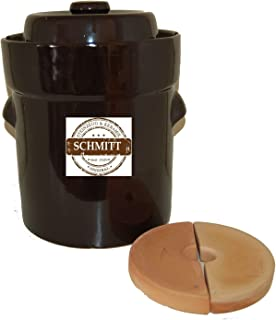 Ms-Steinzeug–Olla de cerámica para chucrut (5l. + beschwerungssteine marrón