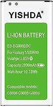 Galaxy S5 Battery, YISHDA 2800mAh Replacement Battery for Samsung Galaxy S5 G900V, G900P,..