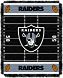 Officially Licensed NFL Oakland Raiders 'Field' Woven Jacquard Baby Throw Blanket, 36' x 46', Multi Color