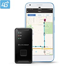 Amcrest 4G LTE GPS Tracker - Portable Mini Hidden Real-Time GPS Tracking Device for Vehicles, Cars, Kids, Persons, Assets w/Geo-Fencing, Text/Email/Push Alerts, 14 Day Battery