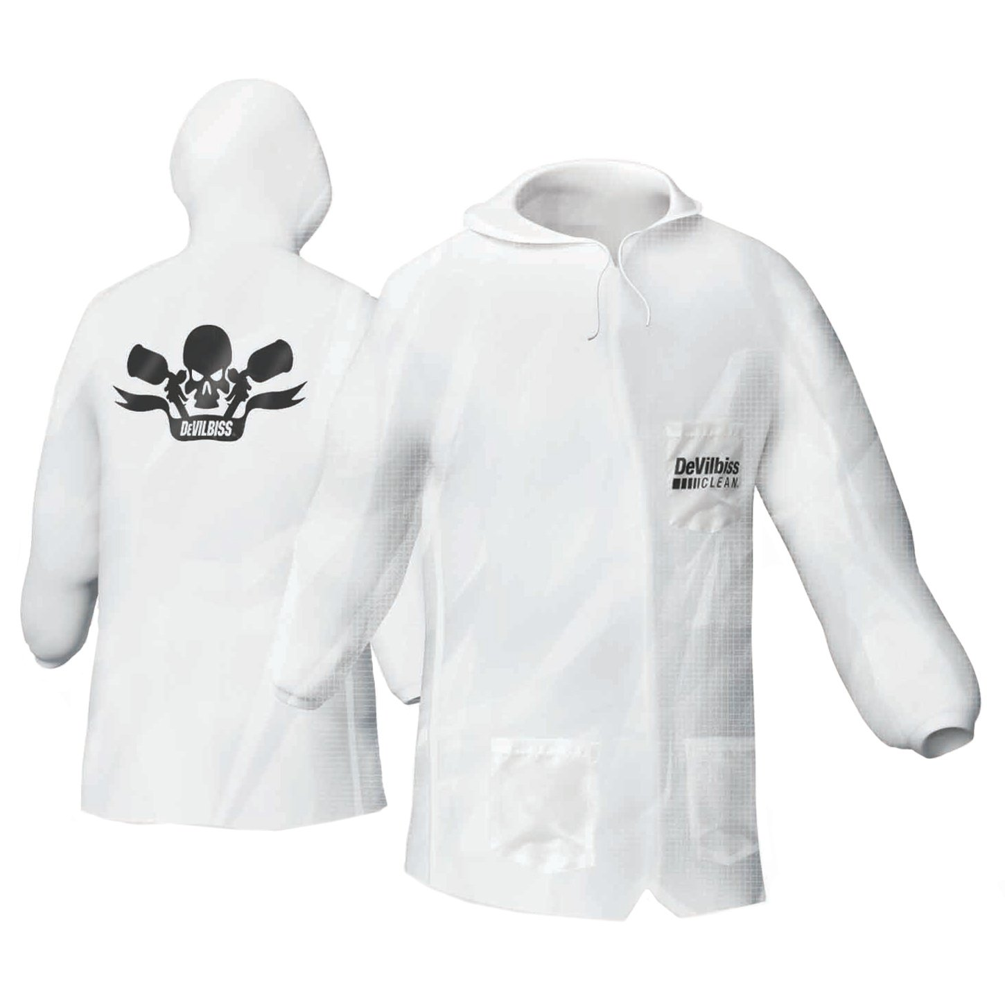 DeVilbiss DEV-803665 Reusable Lab Coat Recommended Larg Ranking TOP15 with Hood Pullover -