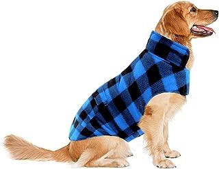ASENKU Dog Winter Coat, Dog Fleece Jacket Plaid Reversible Dog Vest Waterproof Windproof Cold Weather Dog Clothes Pet Apparel for Small Medium Large Dogs