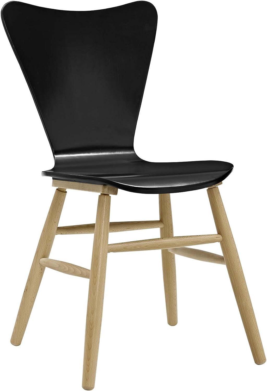 Modway EEI-2672-BLK Cascade Wood Dining Chair, Black