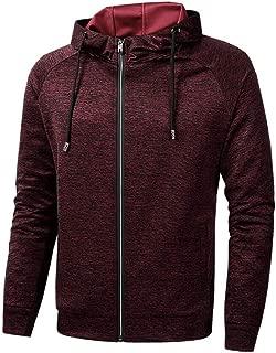 Mens Hoodie Sweatshirt Jumper Cardigan Running Fitness Jacket Long Sleeve zip Up Slim Cation Sports Top