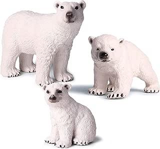 Kolobok – Safari Animals Action Figures – Wild Polar Bears – Zoo Animals Educational Toys –3 pcs Playset