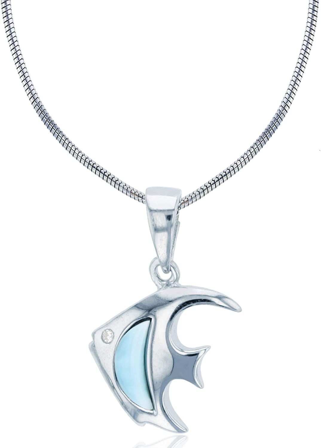 Sterling Silver Rhodium Larimar All Super popular specialty store items in the store Fish 22