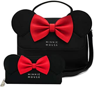 Loungefly Disney Minnie Mouse Ears and Bow Crossbody Bag Wallet Set by Loungefly