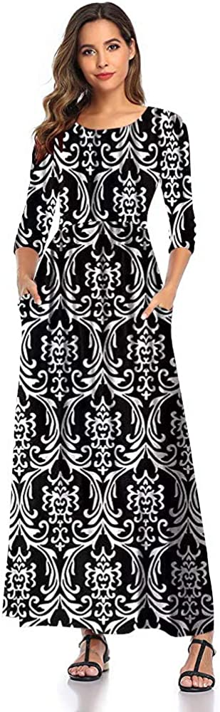 SHELY Women's Floral Print Maxi Dresses Save money Long Superlatite D Sleeve 4 Casual 3