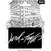 $50 Lord & Taylor White Gift Card