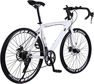 U`King Men Road Bikes 700c Road Bikes Shimano TZ300 Rear dial Road Bikes for Men and Women