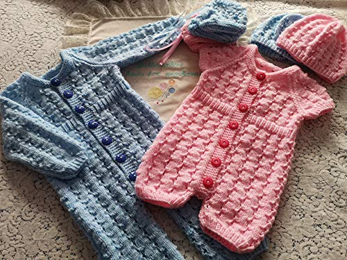 DollieBabies Knitting Pattern 83 - 0-6 Month Baby Ribbed Waist Romper (English Edition)