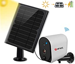 $109 » Solar Powered Security Camera+Solar Panel, Compatible with Alexa and Google Voice Enabled,Rechargeable 6400mAh Battery That Lasts for 365-Days Under Sunlight, 2-Way Audio,Support SD Card,HFWS-S3