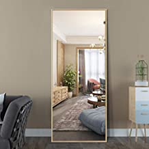 "ElevensMirror Full Length Mirror Dressing Mirror with Standing Holder 59""x20"" Large Rectangle Bedroom Floor Mirror Standin..."