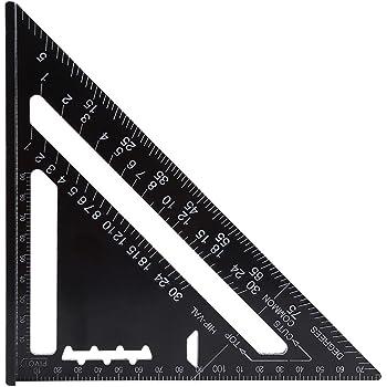 7 Zoll Rafter Square Carpenter Square Aluminium Quadrat Layout Werkzeug Mit Schwarzem Oxid Finish(Metrisches System)