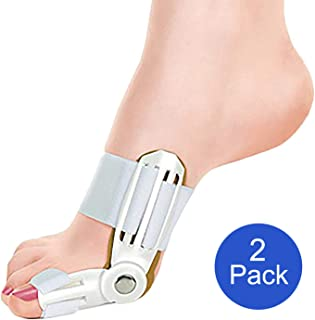 Extreme Fit 2-Pack Bunion Corrector Relief Orthopedic Splint Brace for Women and Men Hammer Toe Straightener, Turf Toe Brace, Toe Seperators, Hallux valgus Relief - 2 Pack